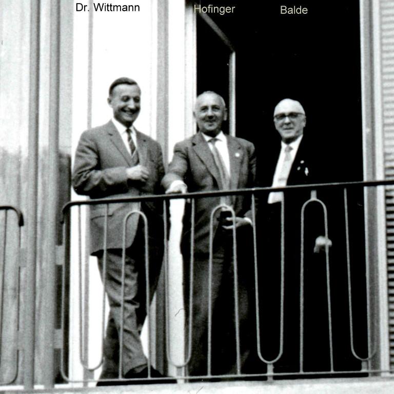 von links: Dr. Heinrich Wittmann, Wilhelm Hofinger, Rudolf Bald (BDPh), ca. 1960.jpg